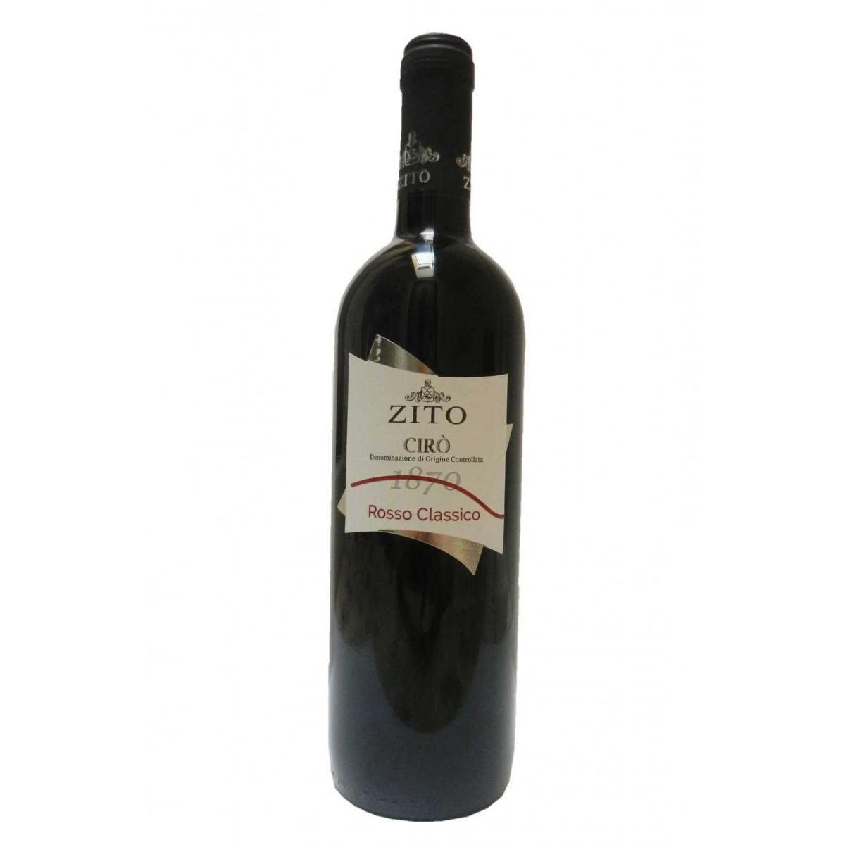 Vino rosso di Cirò cantina Zito