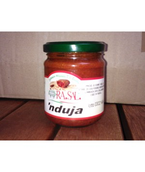 nduja calabrese in vasetto da 212 ml